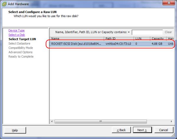 Проброс жесткого диска в vmware
