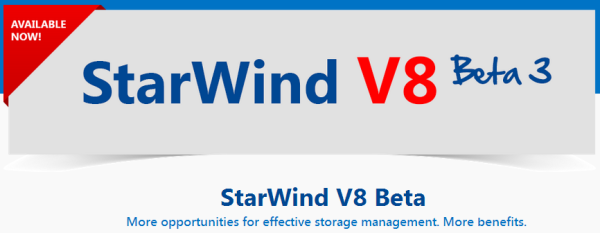 - StarWind SAN V8 Beta 3 - .