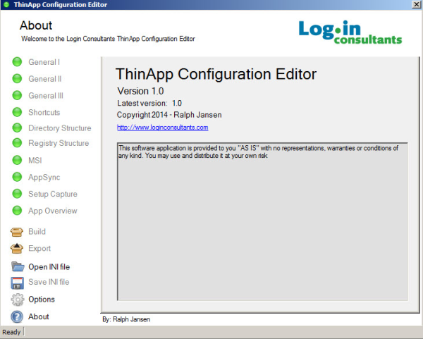 Thinapp Configuration Editor - .